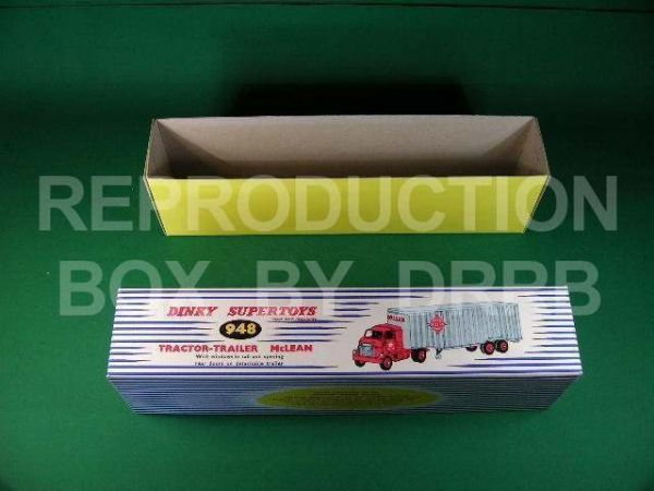 Dinky #948 Tractor-Trailer 'McLean' - Reproduction Box